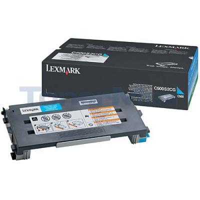 LEXMARK X500 X502 TONER CARTRIDE CYAN 1.5K
